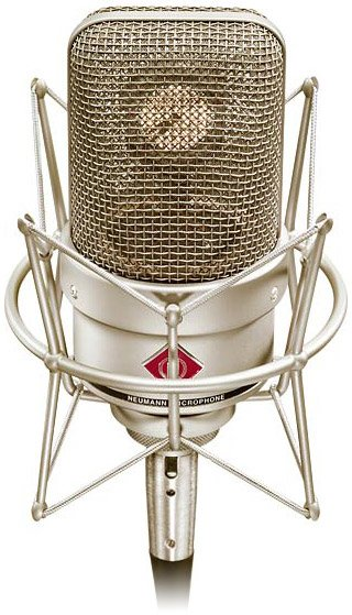 Cardioid Condenser Studio Microphone with Shock Mount in Satin Nickel Finish