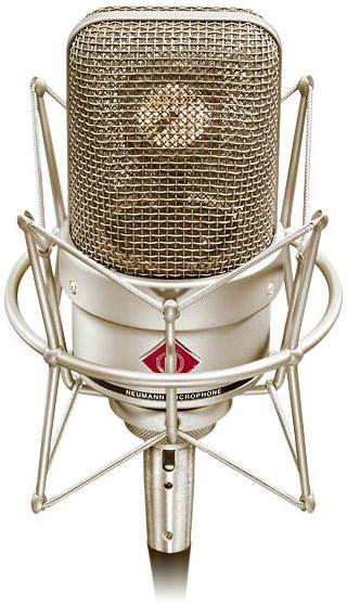 Cardioid Condenser Studio Microphone with Shock Mount in Satin Nickel Finish