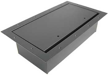 Double Wide Stage Pocket with Textured Black Powder Coat & Standard Lid