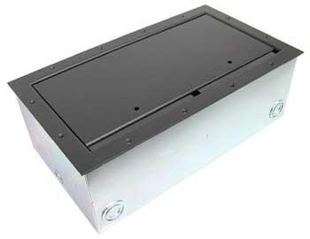 Super Double Wide Stage Pocket with Black Powder Coat Trim Bezel & Standard Lid