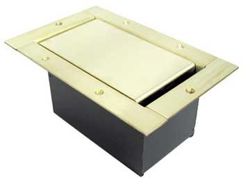 Half Stage Pocket with Brushed Brass Solid Finish & Standard Lid