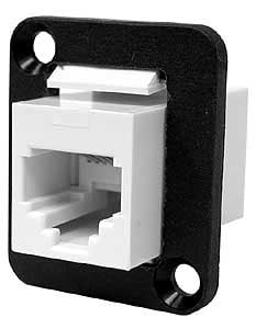 ADP/RJ11 Feed Thru (Coupler), Panel Mount