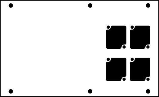 Aluminum Stage Pocket Panel, with 4 Connectrix Mounts, Black