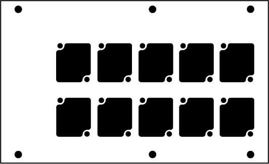 Aluminum Stage Pocket Panel, Black, with 10 Connectrix Mounts