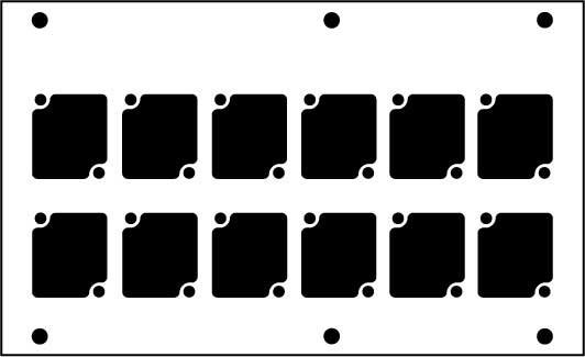 Aluminum Stage Pocket Panel, with 12 Connectrix Mounts, Black