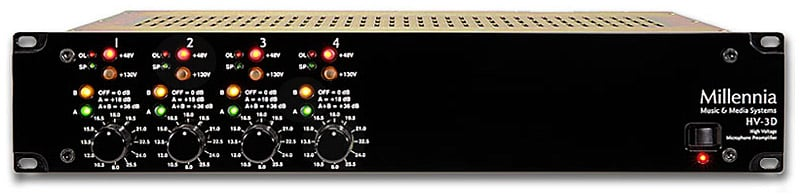 Millennia Media HV3D-4 Channel 4-Channel Microphone Preamp