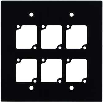 Double Gan Wall Panel with 6 Connectrix Mounts, Black