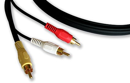 3 RCA Male to 3 RCA Male Cable, 35 Feet