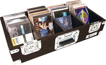Carpeted CD Case, Holds 300 CDs (Black)