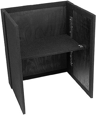 "Carpeted Fold-out Stand, 21"" Width, 24"" Height (Black)"