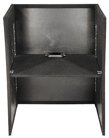 """Carpeted Fold-out Stand, 26"""" Width, 36"""" Height (Black)"""