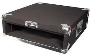 Carpeted Rack Case, 2 RU