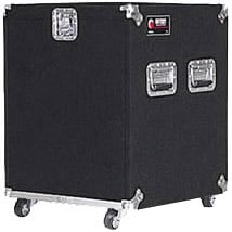Odyssey CRP12W Carpeted Rack Case w/ Wheels, 12 RU CRP12W
