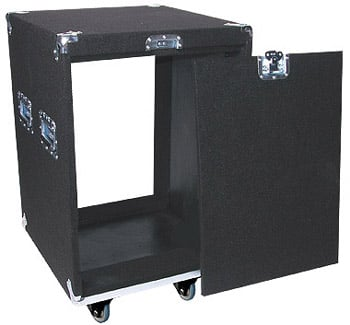 Carpeted Rack Case w/ Wheels, 14 RU