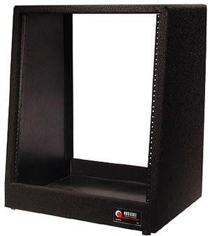 Carpeted Slanted Studio Rack, 12 RU