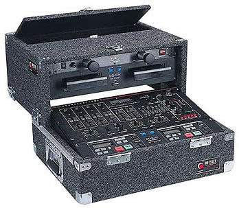 Carpeted Slide-Style CD DJ Case, 8 RU + 4 RU