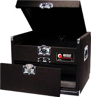 Carpeted Combo Rack Case, 9 RU Top, 4 RU Front