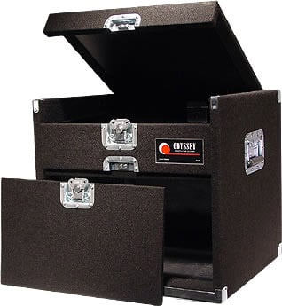 Carpeted Combo Rack Case, 9 RU Top, 6 RU Front