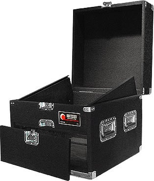 Carpeted Combo Case, 11 RU Top, 4 RU Front