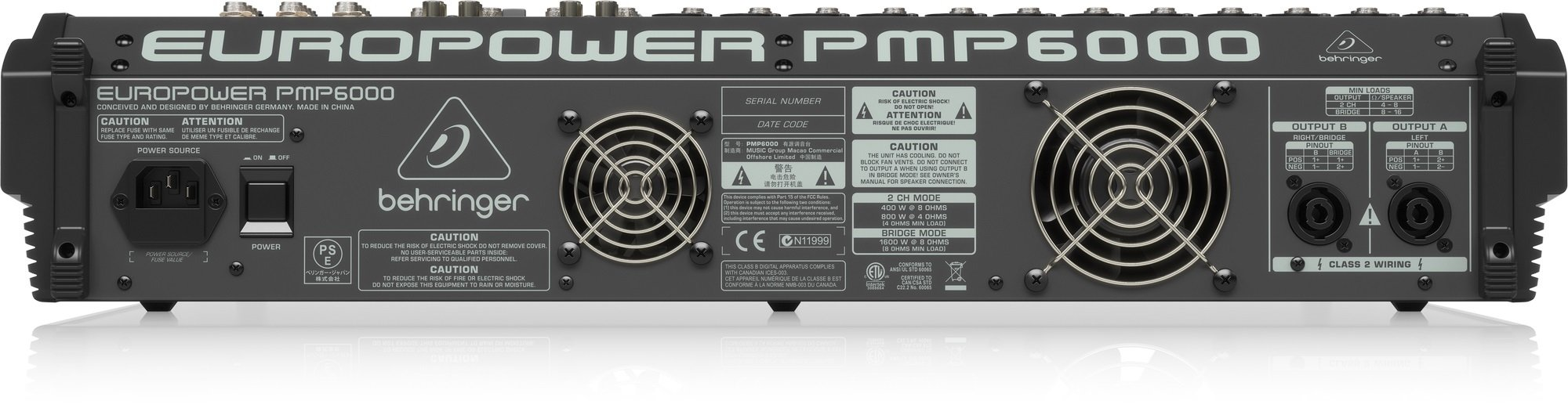 behringer pmp6000 20 channel 1600w powered mixer with effects full compass systems. Black Bedroom Furniture Sets. Home Design Ideas
