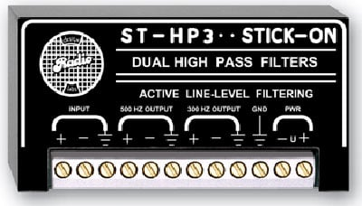 High Pass Filter - 300 Hz & 500 Hz