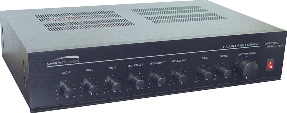 Public Address Mixer Power Amplifier, 60 Watt