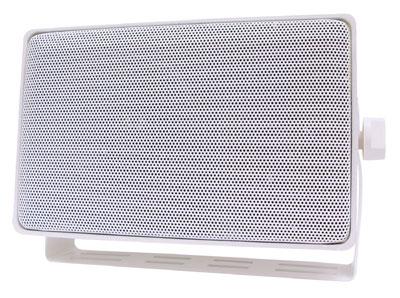 "3-Way 4"" Mini Weather Resistant Outdoor Speaker in White"
