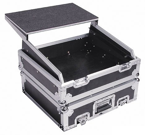 Glide Style Utility Combo Rack Case w/ Laptop Platform, 10 RU