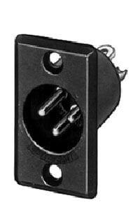 Switchcraft D3FBAU Conn XLR-F 3p Rect. Blk/Gold  D3FBXAU