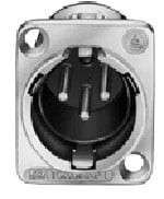 Connector XLR-M 3p Square Panel, Nickel/Silver