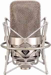 Large Diaphragm Omnidirectional Condenser Tube Microphone in Satin Nickel Finish