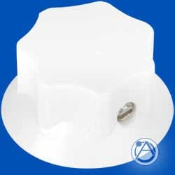 "Atlas Sound HX22-W Skirted Knob, White, 1 1/8"" Diameter HX22-W"