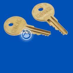 Replacement Key for Atlas Rear Door Assemblies