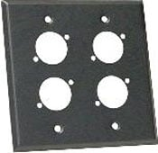 Wall Plate, Dual Gang, with 4 D3F Holes