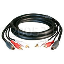 Cable S-Video Dual RCA Aud 6ft