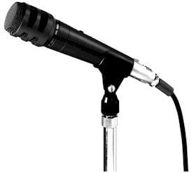 "TOA DM1200 Unidirectional Handheld Dynamic Microphone with 25 ft XLR-F to 1/4"" Cable DM1200-TOA"