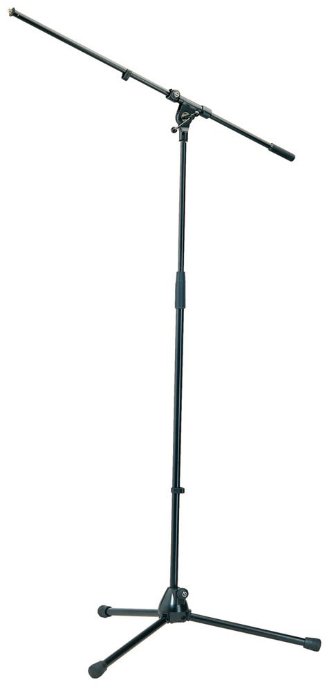 "Microphone Stand with 33"" Boom and Tripod Base in Black"