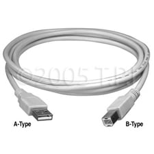 USB A to B InterfaceCable 10ft