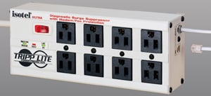 Under-monitor surge suppressor