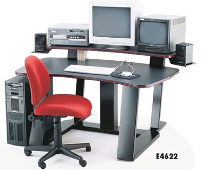 "Digital Desk 59""W w/Spkr Brack"