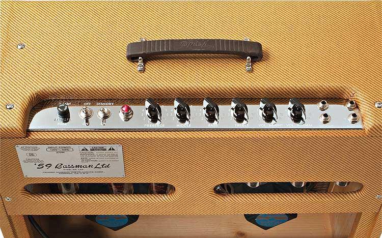 "Vintage '59 Bassman Reissue, Guitar Combo, 4 x 10"" Jensen Speakers, 45W, 2 ohms, Tweed Covering"