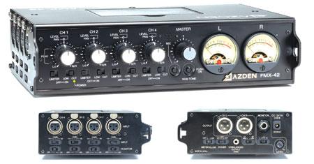 Mixer,Pro Field w/4 XLR inputs