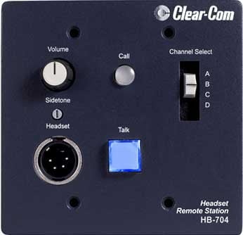 Intercom Headset Station, 4 Channel