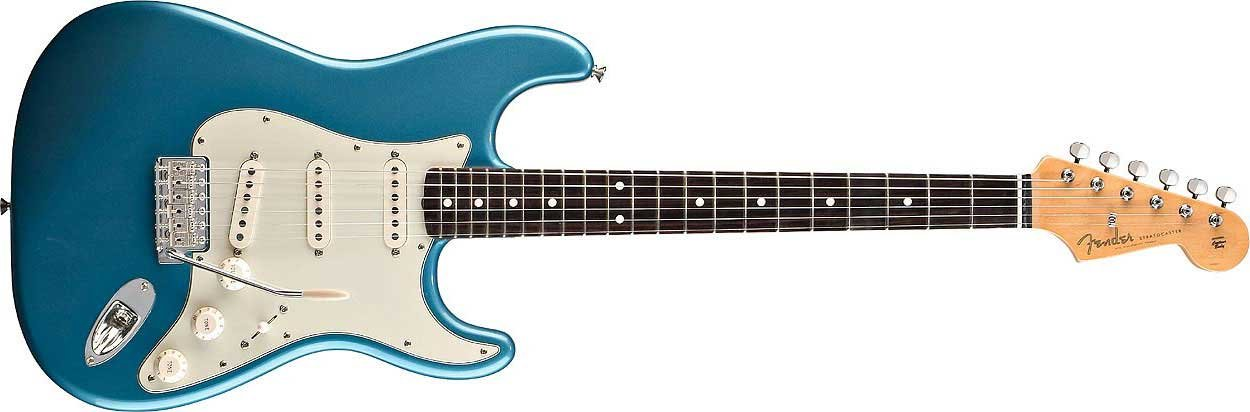 Fender Classic Series '60s Strat Lake Placid Blue '60s Stratocaster Guitar, Classic Series STRAT-60S-RW-LPB