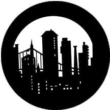 Rosco Laboratories 77270 Gobo Modern Skyline 77270