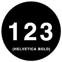 Gobo Helvetica Bold Numbers