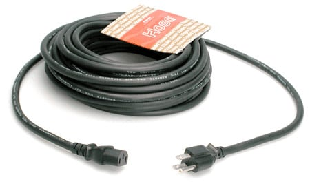Power Cord, NEMA 3-Prong Male to IEC 3-Prong Female, 25 Ft