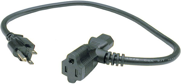 Multi-Head Power Cord (1 Foot)