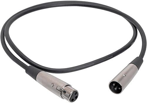 Microphone Cable, XLR Male - XLR Female, 10 Feet