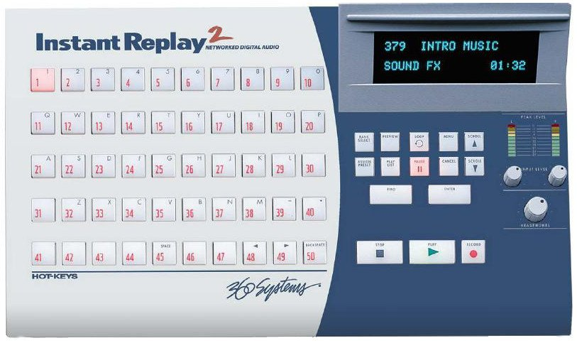 Instant Replay2 Hard Disk Audio Recorder/Hot-Key Clip Player with Digital I/O